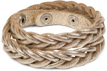 styleBREAKER Leder Armband in Flecht-Optik, Vintage Style, Lederarmband, Unisex 05040053 – Bild 16