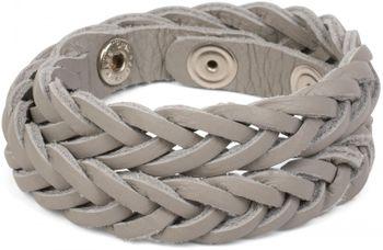 styleBREAKER Leder Armband in Flecht-Optik, Vintage Style, Lederarmband, Unisex 05040053 – Bild 4