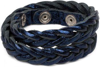 styleBREAKER Leder Armband in Flecht Optik, Vintage Style, Lederarmband, geflochten, Unisex 05040053 – Bild 7