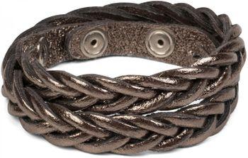 styleBREAKER Leder Armband in Flecht Optik, Vintage Style, Lederarmband, geflochten, Unisex 05040053 – Bild 17