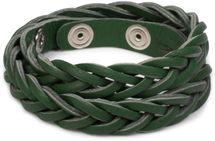 styleBREAKER Leder Armband in Flecht-Optik, Vintage Style, Lederarmband, Unisex 05040053 – Bild 12