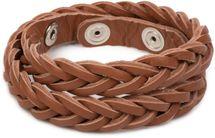 styleBREAKER Leder Armband in Flecht-Optik, Vintage Style, Lederarmband, Unisex 05040053 – Bild 9