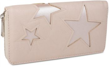 styleBREAKER purse with star cutout print of contrasting colour, circumferential zipper, women 02040037 – Bild 9