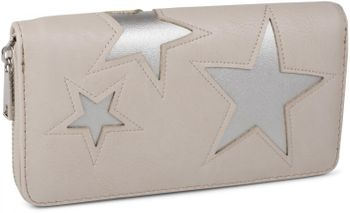 styleBREAKER purse with star cutout print of contrasting colour, circumferential zipper, women 02040037 – Bild 7