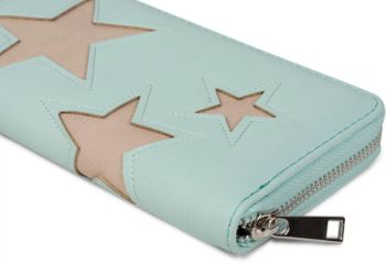 styleBREAKER purse with star cutout print of contrasting colour, circumferential zipper, women 02040037 – Bild 16
