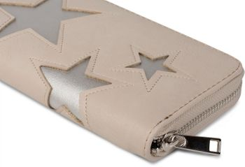styleBREAKER purse with star cutout print of contrasting colour, circumferential zipper, women 02040037 – Bild 18