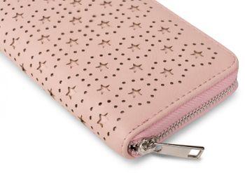 styleBREAKER Geldbörse mit Punkte und Sternchen Cutout Muster, umlaufender Reißverschluss, Portemonnaie, Damen 02040038 – Bild 11