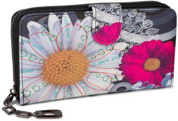 styleBREAKER Geldbörse mit Ethno Blumen und Blüten Muster, Vintage Design, Reißverschluss, Portemonnaie, Damen 02040040 – Bild 3