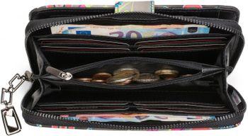 styleBREAKER Geldbörse mit Ethno Blumen und Blüten Muster, Vintage Design, Reißverschluss, Portemonnaie, Damen 02040040 – Bild 11