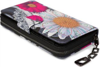 styleBREAKER Geldbörse mit Ethno Blumen und Blüten Muster, Vintage Design, Reißverschluss, Portemonnaie, Damen 02040040 – Bild 15
