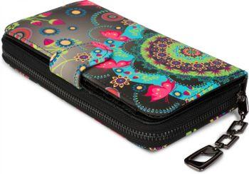 styleBREAKER Geldbörse mit Ethno Blumen und Blüten Muster, Vintage Design, Reißverschluss, Portemonnaie, Damen 02040040 – Bild 13