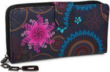 styleBREAKER Geldbörse mit Ethno Blumen und Blüten Muster, Vintage Design, Reißverschluss, Portemonnaie, Damen 02040040 – Bild 6