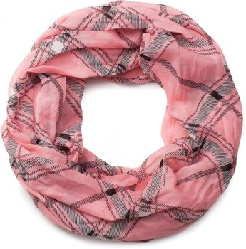 styleBREAKER classic checked pattern tube scarf, soft and silky, cloth, women 01016103 – Bild 9