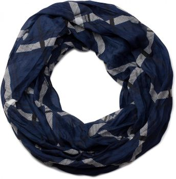 styleBREAKER classic checked pattern tube scarf, soft and silky, cloth, women 01016103 – Bild 4