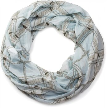 styleBREAKER classic checked pattern tube scarf, soft and silky, cloth, women 01016103 – Bild 7