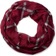 styleBREAKER classic checked pattern tube scarf, soft and silky, cloth, women 01016103 – Bild 2