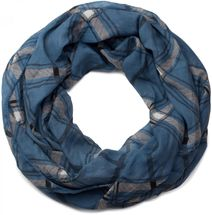 styleBREAKER classic checked pattern tube scarf, soft and silky, cloth, women 01016103 – Bild 10