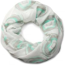 styleBREAKER tube scarf with colourful swirly pattern, scarf, cloth, women 01016108 – Bild 1