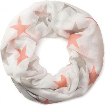 styleBREAKER colourful star pattern tube scarf, stars, cloth, scarf, women 01016109 – Bild 4