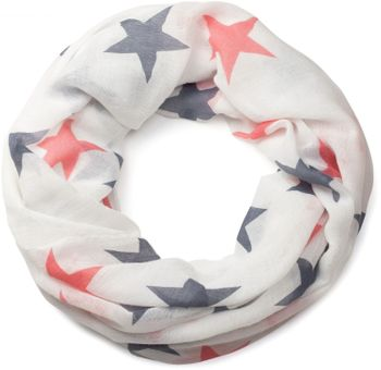 styleBREAKER colourful star pattern tube scarf, stars, cloth, scarf, women 01016109 – Bild 1