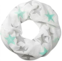 styleBREAKER colourful star pattern tube scarf, stars, cloth, scarf, women 01016109 – Bild 2