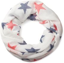 styleBREAKER colourful star pattern tube scarf, stars, cloth, scarf, women 01016109 – Bild 7