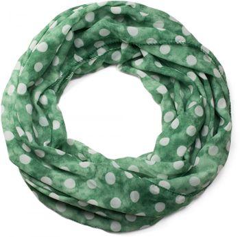 styleBREAKER Punkte Muster Loop Schlauchschal, seidig leicht, Tuch, Damen 01016111 – Bild 16