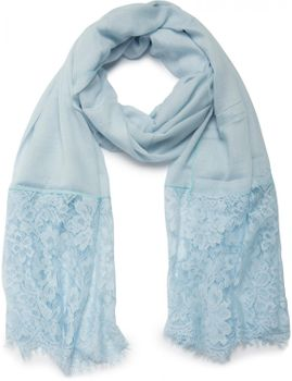 styleBREAKER fringed scarf, uni, with lace trim, flower print, stole, cloth, women 01016112 – Bild 7