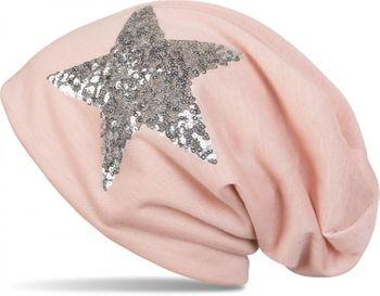 styleBREAKER Beanie Mütze mit Pailletten Stern, Slouch Longbeanie, leicht, Damen 04024067 – Bild 5