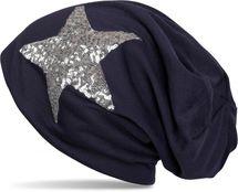 styleBREAKER star sequined slouch beanie, slouch longbeanie, silky, women 04024067  – Bild 6