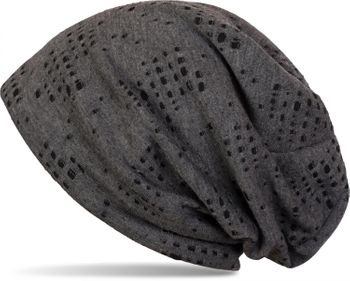 styleBREAKER destroyed vintage used look slouch beanie, slightly perforated, slouch longbeanie, unisex 04024070  – Bild 1