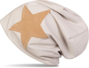 styleBREAKER slouch beanie with artificial leather star patch, slouch longbeanie, unisex 04024071  – Bild 14