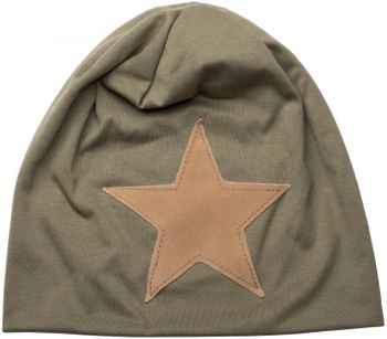 styleBREAKER slouch beanie with artificial leather star patch, slouch longbeanie, unisex 04024071  – Bild 27