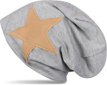styleBREAKER slouch beanie with artificial leather star patch, slouch longbeanie, unisex 04024071  – Bild 12