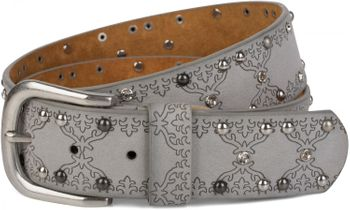 styleBREAKER studded belt with ethno ornaments, rhinestone and vintage design ball rivets, can be cut to length on request, ladies 03010061 – Bild 8