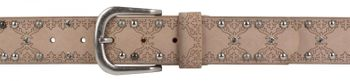 styleBREAKER studded belt with ethno ornaments, rhinestone and vintage design ball rivets, can be cut to length on request, ladies 03010061 – Bild 21