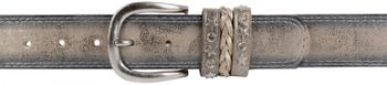 styleBREAKER 2-tone look vintage belt with decorative buckle band, rivets, rhinestone, can be cut to length on request, unisex 03010062 – Bild 25