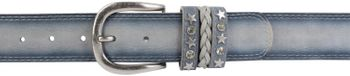 styleBREAKER 2-tone look vintage belt with decorative buckle band, rivets, rhinestone, can be cut to length on request, unisex 03010062 – Bild 22