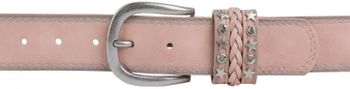 styleBREAKER 2-tone look vintage belt with decorative buckle band, rivets, rhinestone, can be cut to length on request, unisex 03010062 – Bild 27