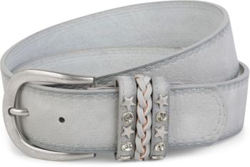 styleBREAKER 2-tone look vintage belt with decorative buckle band, rivets, rhinestone, can be cut to length on request, unisex 03010062 – Bild 13