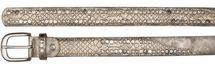 styleBREAKER belt with flat rivets and rhinestone, snakeskin look, decorative stitching, vintage style, can be cut to length on request, ladies 03010064 – Bild 21