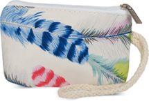 styleBREAKER Strandtasche mit buntem Feder Muster und Reißverschluss, Schultertasche, Shopper, Badetasche, Damen 02012059 – Bild 10