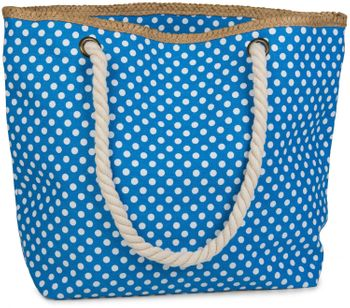 styleBREAKER dotted beach bag with zipper, small make-up bag, shopper, ladies 02012062 – Bild 4