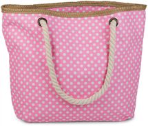 styleBREAKER dotted beach bag with zipper, small make-up bag, shopper, ladies 02012062 – Bild 6