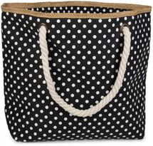 styleBREAKER dotted beach bag with zipper, small make-up bag, shopper, ladies 02012062 – Bild 1