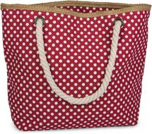 styleBREAKER dotted beach bag with zipper, small make-up bag, shopper, ladies 02012062 – Bild 3