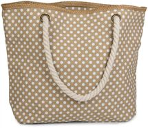 styleBREAKER dotted beach bag with zipper, small make-up bag, shopper, ladies 02012062 – Bild 5