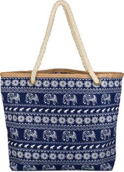 styleBREAKER Strandtasche mit Ethno Elefanten Muster und Reißverschluss, Schultertasche, Shopper, Damen 02012063 – Bild 12