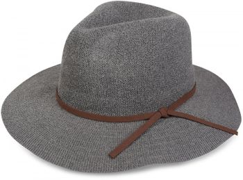 styleBREAKER Bogart hat, crumpled Fedora hat with imitation suede ribbon, cowboy hat, ladies 04025009 – Bild 2