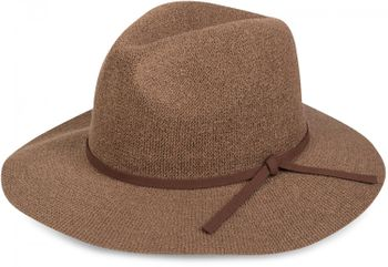 styleBREAKER Bogart hat, crumpled Fedora hat with imitation suede ribbon, cowboy hat, ladies 04025009 – Bild 3